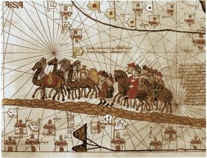 Marco Polo on his travels to the Far East, French, 14th century.