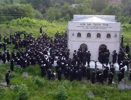The grave of the Baal Shem Tov, commonly considered to be the founder of Hasidic Judaism, in present-day Ukraine